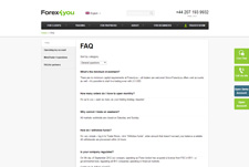 Forex4you FAQs